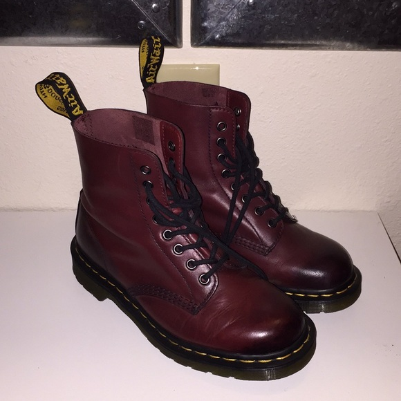 bc287d6584464 Dr. Martens Shoes | Dr Martens Pascal 8eye Boot Cherry Red | Poshmark